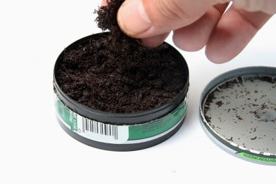 can of chewing tobacco, dip