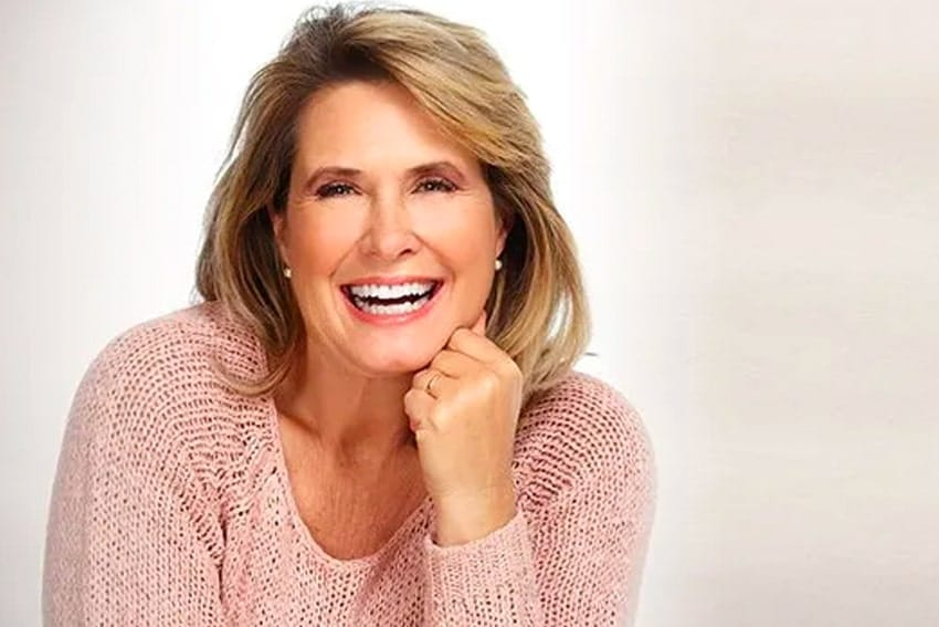 Mature woman showing off her healthy smile