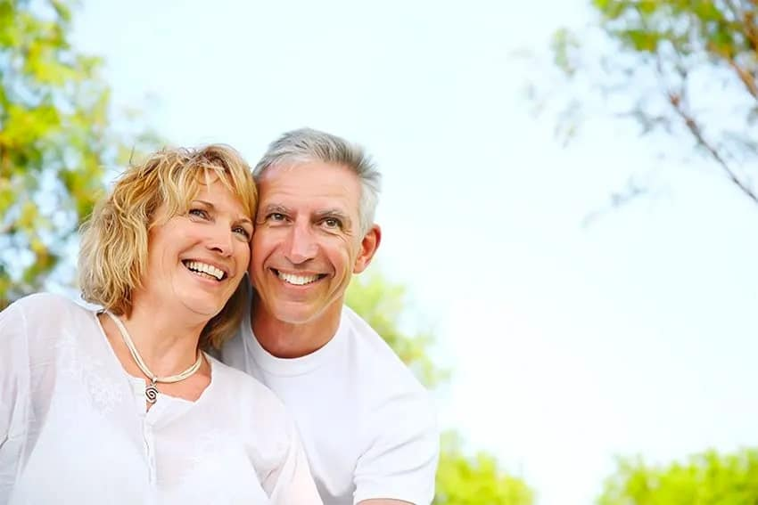 mature couple enjoying a beautiful day in the park