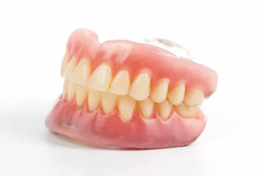 A set of cheap dentures